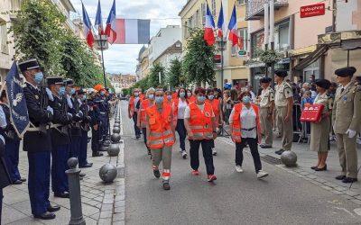 Les bénévoles de la Croix-Rouge ont été mis à l'honneur cette année.